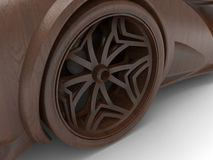 Wooden car rim Royalty Free Stock Photo