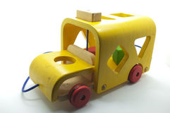 Wooden car toy Stock Photos