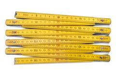 Wooden carpentry ruler Stock Photo