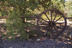 Wooden Carriage Wheel Stock Photography