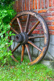 Wooden carriage wheel Royalty Free Stock Photo
