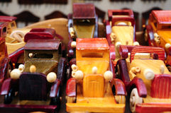 Wooden cars Stock Images