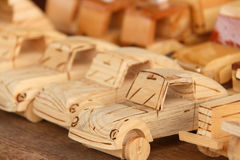 Wooden cars Royalty Free Stock Image