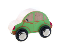 Wooden cars toys Royalty Free Stock Photos