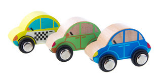 Wooden cars toys Stock Images