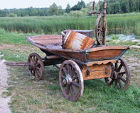 Wooden cart Royalty Free Stock Images