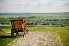 Wooden cart Stock Images