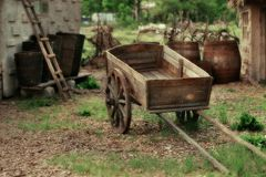 Wooden cart Royalty Free Stock Photo