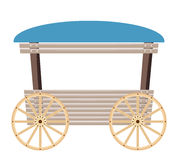 Wooden cart isolated on white background Royalty Free Stock Photography