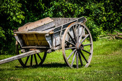 Wooden Cart at Mount Vernon Royalty Free Stock Photography
