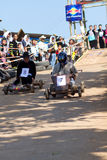The wooden cart racing. Royalty Free Stock Photography
