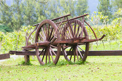 Wooden cart Stock Photo