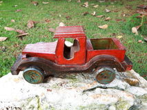 Wooden Cart. Toy car is a type of object greatly appreciated by children since ancient times. Manufactured mainly in wood, metal and modern, plastic, they are Royalty Free Stock Images