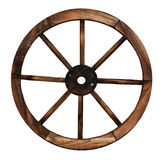 Wooden cart wheel. Vintage wooden cart wheel with spikes stock photography