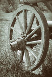 Wooden cart wheel Royalty Free Stock Photo