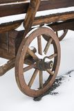 Wooden cart wheel Royalty Free Stock Image