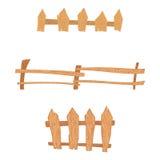 Wooden cartoon fences set Stock Image
