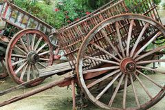 Wooden carts Baeza Spain Stock Image