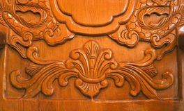 Wooden carve of Lao furniture Stock Image