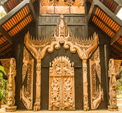 Wooden carved Stock Images