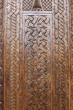 Wooden carved background Royalty Free Stock Image