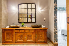 Wooden carved commode Royalty Free Stock Photos