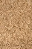Wooden carved decoration of Alhambra royalty free stock photography