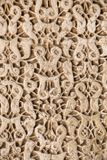 Wooden carved decoration of Alhambra stock image