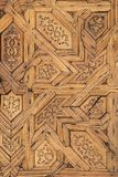 Wooden carved decoration of Alhambra royalty free stock photos