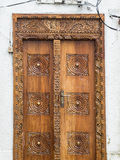 Wooden carved door in Stone Town, Zanzibar Stock Photography