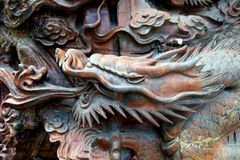 Wooden Carved Dragon Royalty Free Stock Image