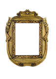 Wooden carved Frame for picture Royalty Free Stock Photos