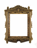 Wooden carved Frame for picture or portrait. Beautiful wooden carved Frame for picture or portrait over white Stock Images