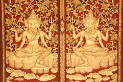 Wooden carved Ganesh. Royalty Free Stock Photography