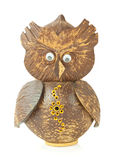 Wooden carved Owl Stock Photography