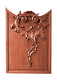 Wooden carved panel Stock Photo