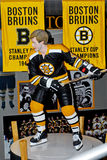 Wooden Carved Statue of Bobby Orr Stock Photos