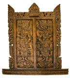 Wooden carved Thai Style Stock Photos
