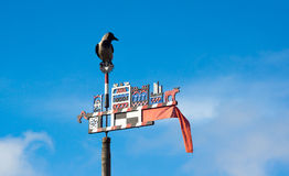 Wooden carved weather vane Royalty Free Stock Photos