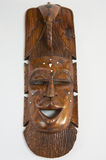 Wooden carving. African wooden carving of a face Royalty Free Stock Image