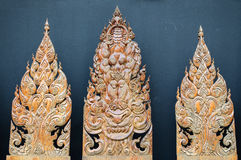 Wooden carving. Background of Thailand Carving Style Royalty Free Stock Images