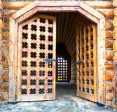 Wooden carving door Royalty Free Stock Photography