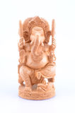 Wooden Carving of Ganesh Stock Image