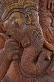 Wooden carving of lord ganesha. Religion Royalty Free Stock Images