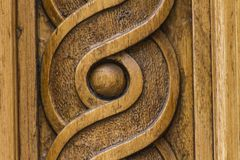 Wooden carving shapes royalty free stock photography