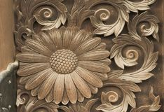 Wooden carvings Royalty Free Stock Images