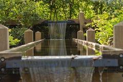 Wooden cascade Stock Photo