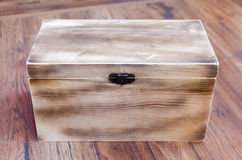 Wooden case. On the wooden floor Royalty Free Stock Photos