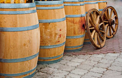 Wooden cask1 Stock Images