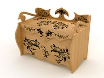 Wooden casket Royalty Free Stock Photography